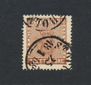 SWEDEN 1858, 30o VF USED Sc#11a (SEE BELOW PART OF GROUP)