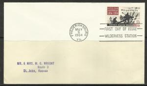 United States 1964 Battle of Wilderness FDC Scott# 1181