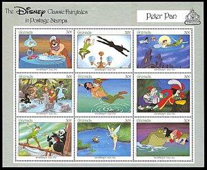 Grenada 1545, MNH, Disney Peter Pan miniature sheet
