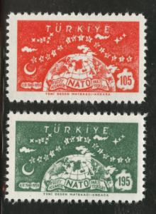TURKEY Scott 1436-37 MNH** 1959 stamp NATO set