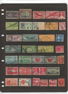 STAMP STATION PERTH USA Early Selection of 34 Stamps Unchecked Mint /Used-Lot 34