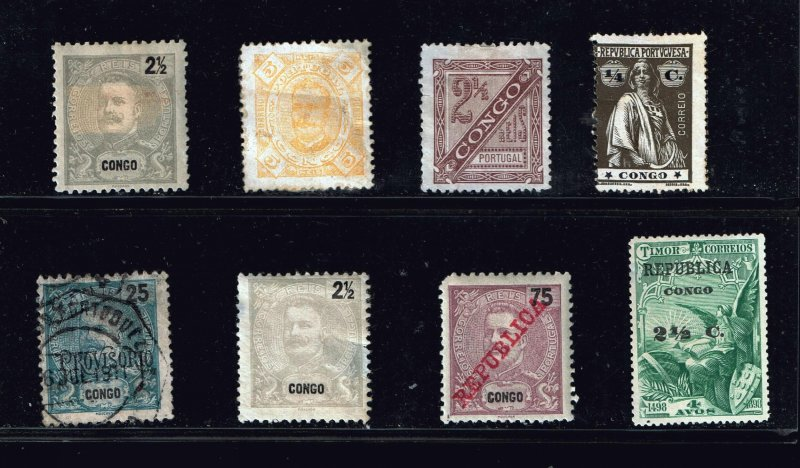 PORTUGAL CONGO STAMP MINT, USED STAMPS COLLECTION LOT