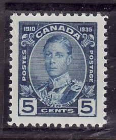 Canada-Sc#214- id5-Unused NH og 5c Prince of Wales-KGV Silver Jubilee-1935-
