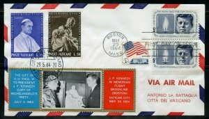 VATICAN CITY MAY 29, 1964  MEMORIAL FLIGHT FOR JOHN F. KENNEDY COMBINATION COVER