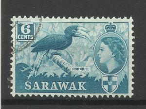 Sarawak 1964/5 Sg 206, 6c Greenish Blue, Fine Used [1457]