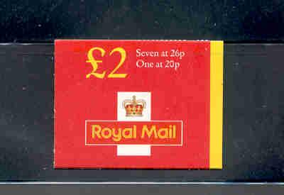 Great Britain Sc BK749 1990 MH216a Machin stamp booklet  mint NH