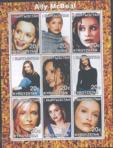 ALLY McBEAL Souvenir Sheet MNH from Kyrgyzstan - E75