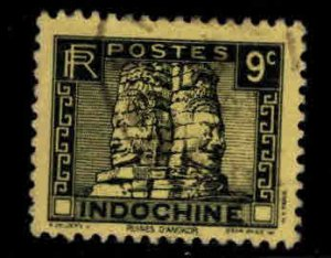 French Indo-China Scott 157A Used Angkor Thom stamp
