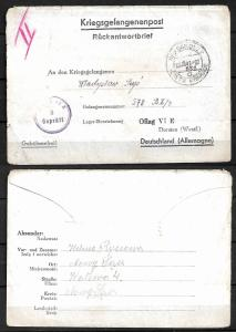 GERMANY WWII. 1941. LETTER-SHEET TO OFLAG - POW CAMP FOR POLISH OFFICER