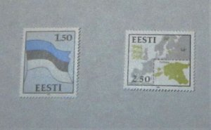 Estonia - 209-10, MNH Set. Flag. SCV - $3.35
