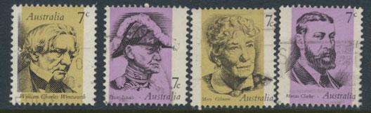SG 537-540  Fine Used  Famous Australians  5th Series -  as singles