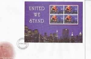 PNG33) PNG 2002 United We Stand Sepia Picture cachet FDC