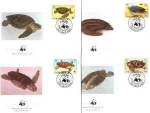 Anguilla Mi.541-44 FDC WWF/Turtles