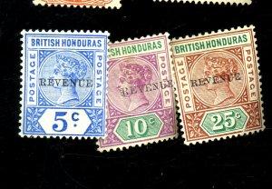 BRITISH HONDURAS #48-50 MINT FVF OG HR Cat $38