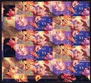 Netherlands 1996 Scott #947-950 Mini-Sheet of 20 Mint Never Hinged