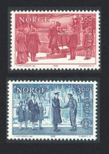 Norway Europa Historic Events 2v SG#898-899