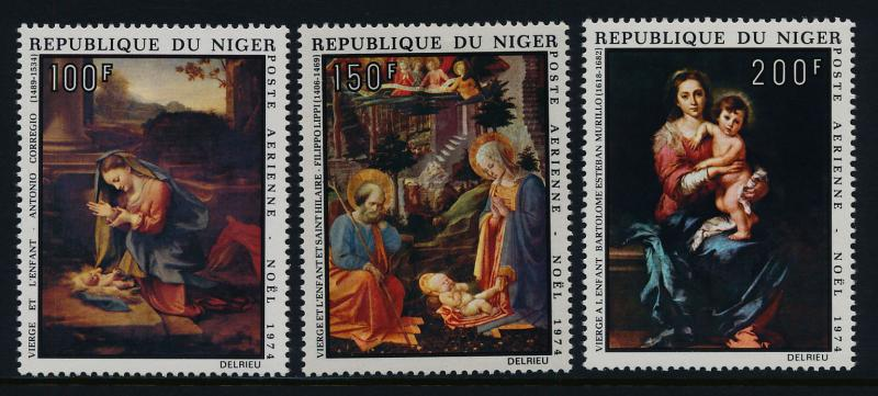 Niger C245-7 MNH Christmas, Art, Paintings