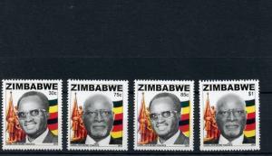 Zimbabwe 2013 MNH Heroes 4v Set Landa John Nkomo People