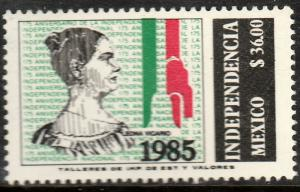 MEXICO 1401, 175th Anniv of Independence, LEONA VICARIO. MINT, NH. F-VF.