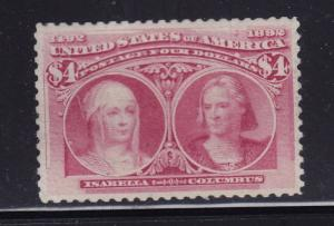 244 VF-XF unused ( mint regum ) scarce , with nice color ! see pic !