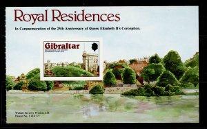 GIBRALTAR QEII SG406a, 1978 25p Windsor Castle book pane of 1, NH MINT.