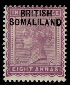 SOMALILAND PROTECTORATE EDVII SG8, 8a dull mauve, M MINT.