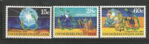COCOS ISLANDS, 53-55, MNH, CHRISTMAS 1980