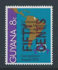 Guyana #611 NH Non-Aligned Countries Issue Surcharged 50c...