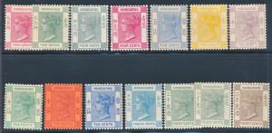 HONG KONG 36B-48, MINT LH, VICTORIA, WMK CA (#42 TINY THIN)