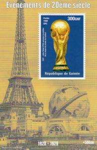 Guinea 1998  YT#1434  Jules Rimet (FIFA) World Cup 1927 Souvenir Sheet  MNH