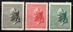 Czechoslovakia #326-8 MNH  CV $2.75  (X267)