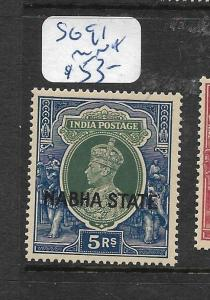 INDIA  NABHA   (PP2905B)  KGVI  5R    SG 91     MNH