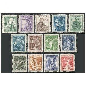 Czechoslovakia 645-657,MNH.Michel 849/875. Definitive 1954.Professions.