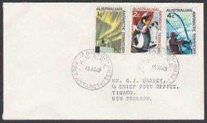AUSTRALIA ANTARCTIC 1969 Cover to NZ ex MAWSON base.........................L997