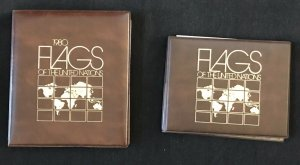 UN Flags of the UN 1980 First Day Covers & 1984 Mint Sheets w/ Official Binders