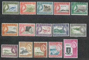 $Virgin Islands Sc#144-158 M/NH/VF, complete set, Cv. $85
