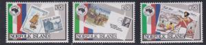 Norfolk Island # 344-346, AUSIPEX '84, Stamp on Stamp , NH, 1/2 Cat.