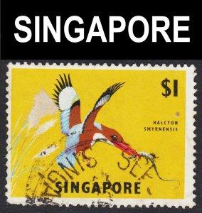 Singapore Scott 67a wtmk sideways F+ used.