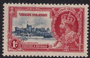 Virgin Islands 1935 KGV 1d Silver Jubilee MM SG 103 ( L1031 )