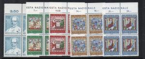 Switzerland Sc B365-69 1967 Pro Patria stamp set mint NH Blocks of 4