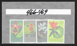 LIECHTENSTEIN Sc#466-469 Complete Mint Never Hinged Set