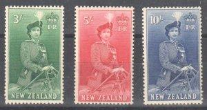 New Zealand #299-301 mint hinged set