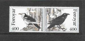BIRDS - FAROE ISLANDS #287-8 (BB-2)  MNH
