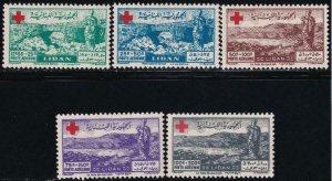 Lebanon 1947 SC CB5-CB9 LH Set