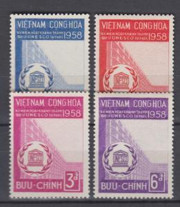South Vietnam 1958 Full  Set Sc#92-95 MNH Luxe (White Gum)