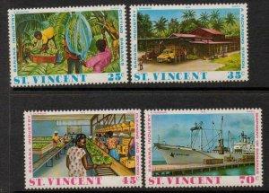 ST.VINCENT SG447/50 1975 BANNANA INDUSTURY MNH