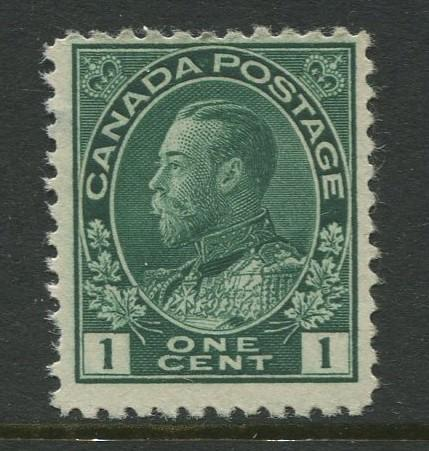 Canada - Scott 104 - Admiral Issue - 1911 - MNH - Single 1c Stamp