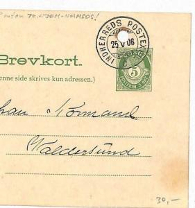 NORWAY Stationery Card *Indherreds Postexpo* 1908 {samwells-covers} KK175