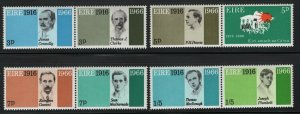 Ireland 1966 Easter Week Rebellion pairs Sc# 206-13 NH