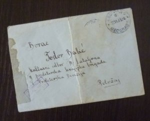 Yugoslavia 1945 Croatia Serbia Censored Cover Sent from Belgrade B1